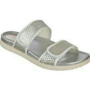 Easy spirit Maelina silver velcro sandals